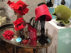 Red and Green Hats at Embellish Atelier Rozelle Fest