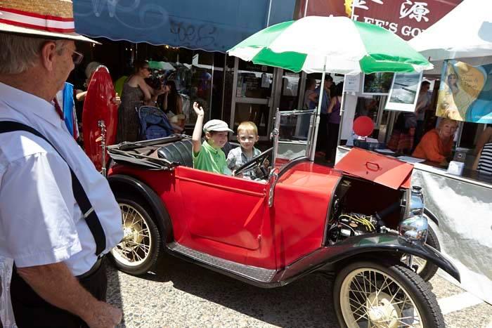 Rozelle Village Fair 2014 red car.jpg