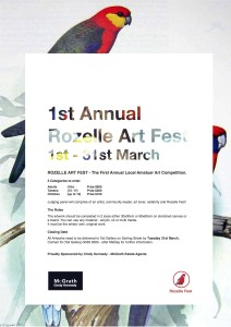 Rozelle Art Fest Art Competition Poster